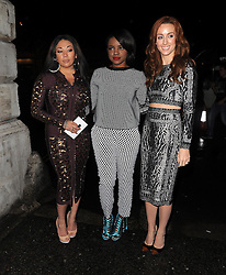 Mutya Buena, Keisha Buchanan and Siobhan Donaghy of MKS attends LFW: PPQ - s/s 2014 catwalk show in London 13/09/2013<br />