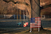 The American Flag With Backyard Swing Set (shoot date unknown)