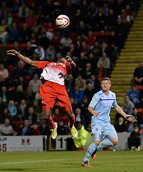 Leyton Orient's Yohann Lasimant controls the ball- Photo mandatory by-line: Mitchell Gunn/JMP - Tel: Mobile: 07966 386802 08/10/2013 - SPORT - FOOTBALL - Brisbane Road - Leyton - Leyton Orient V Coventry City - Johnstone Paint Trophy