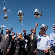 THURSDAY, FEBRUARY 15- 2018---CORAL SPRINGS, FLORIDA--<br /> Elected officials from state and local government release balloons during a community prayer vigil at Parkridge Church  for Marjory Stoneman Douglass High School shooting one day after a mass shooting with 17 casualties.<br /> (Photo by Angel Valentin/FREELANCE)