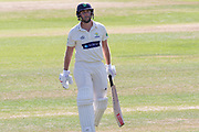 Chris Cooke out for 96 during the Specsavers County Champ Div 2 match between Glamorgan County Cricket Club and Leicestershire County Cricket Club at the SWALEC Stadium, Cardiff, United Kingdom on 17 September 2019.