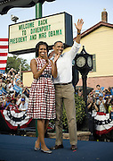16.AUGUST.2011. IOWA<br /> <br /> PRESIDENT BARACK OBAMA AND WIFE MICHELLE OBAMA CAMPAIGN IN DUBUQUE, IOWA. <br /> <br /> BYLINE: EDBIMAGEARCHIVE.COM<br /> <br /> *THIS IMAGE IS STRICTLY FOR UK NEWSPAPERS AND MAGAZINES ONLY*<br /> *FOR WORLD WIDE SALES AND WEB USE PLEASE CONTACT EDBIMAGEARCHIVE - 0208 954 5968*