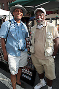 21 July 2011- Harlem, NY- Photographers Ozier Muhammad and Howard Cash at the 2011 Harlem Book Fair held along West 135th Street and at The Schomburg Center on July 23, 2011 in the village of Harlem, USA. Photo Credit: Terrence Jennings