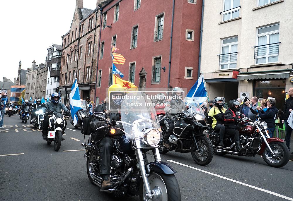 All Under One Banner March, Edinburgh, 5 October 2019<br /> <br /> Pictured: Yes Bikers<br /> <br /> Alex Todd   Edinburgh Elite media