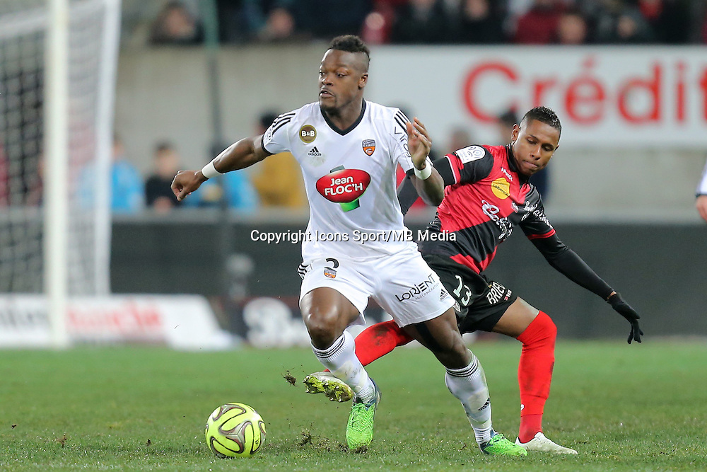 Lamine KONE  - 24.01.2015 - Guingamp / Lorient - 22eme journee de Ligue1<br />