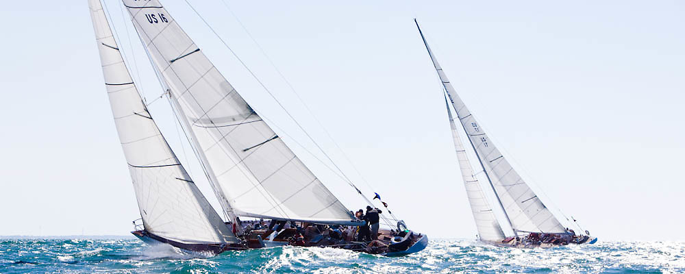 Columbia, 12 Meter Class, racing in the Opera House Cup regatta.