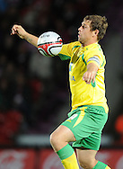 Doncaster - Tuesday September 14th, 2010:  Norwich City's Grant Holt in action during the NPower Championship match at Keepmoat Stadium, Doncaster. (Pic by Dave Howarth/Focus Images)
