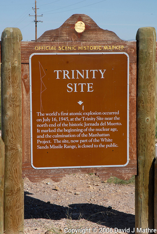 New Mexico Official Scenic Historic Marker for the Trinity Site. Image taken with a Nikon D200 and 18-70 mm kit lens (ISO 400, 62 mm, f/11, 1/500 sec)