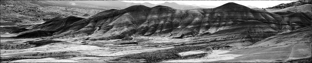 painted hills, john day, oregon, desert, landscape , fine art, black and white, hills,