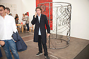 VITO SCHNABEL, opening of the 2010 Frieze art fair. Regent's Park. London. 13 October 2010. -DO NOT ARCHIVE-© Copyright Photograph by Dafydd Jones. 248 Clapham Rd. London SW9 0PZ. Tel 0207 820 0771. www.dafjones.com.