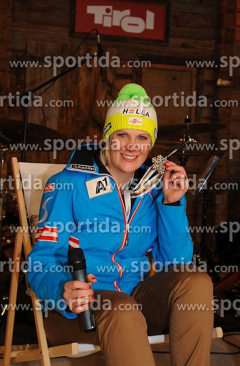 08.02.2013, Tirolberg, Schladming, AUT, FIS Weltmeisterschaften Ski Alpin, Tirol Abend, im Bild Nicole Hosp (AUT) // at the Tyrol evening during FIS Ski World Championships 2013 at the Tirolberg, Schladming, Austria on 2013/02/08. EXPA Pictures © 2013, PhotoCredit: EXPA/ Johann Groder