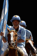 World horseball championship, La Rural Buenos Aires, Argentina 2006.Members of the argentinian national team at the opening ceremony