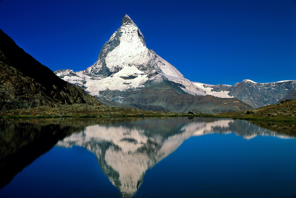 The Matterhorn (Riffelsee in front), near Zermatt, Switzerland