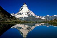 The Matterhorn (Riffelsee in front), near Zermatt, Switzerland