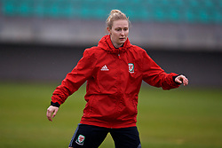 ZENICA, BOSNIA AND HERZEGOVINA - Sunday, November 26, 2017: Wales' Rhiannon Roberts during a training session ahead of the FIFA Women's World Cup 2019 Qualifying Round Group 1 match  against Bosnia and Herzegovina at the FF BH Football Training Centre. (Pic by David Rawcliffe/Propaganda)