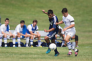 Sussex County Community College Men's Soccer sophomore Carmine Caruso (8) - Middlesex County College Men's Soccer at Sussex County Community College in Newton, NJ on Saturday September 6, 2014. (photo / Mat Boyle)