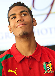 22.05.2010, Grandhotel, Lienz, AUT, FIFA Worldcup Vorbereitung, Pressekonferenz Kamerun im Bild Eric Choupo-Moting, Angriff, Nationalteam Kamerun (1. FC Nürnberg), EXPA Pictures © 2010, PhotoCredit: EXPA/ J. Feichter / SPORTIDA PHOTO AGENCY