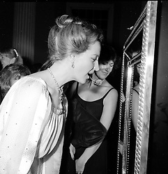 """The Graff Gala - a supper party and jewellery presentation by Laurence Graff to celebrate the 9th birthday of KIDS - a national charity for handicapped children took place at the Banqueting House, Whitehall, London on 3rd December 1979.  The highlight of the evening was the display of the famous """"Idol's Eye"""" - the largest known natural blue diamond in The World.<br /> Picture shows:- PRINCESS MICHAEL OF KENT views the """"Idol's Eye"""""""
