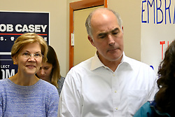 U.S. Sen. Elizabeth Warren (D-MA) joins U.S. Sen. Bob Casey (D-PA) to support his campaign at a canvas kick-off event in North Philadelphia, PA, on September 23, 2018.