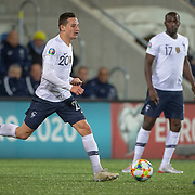 ANDORRA LA VELLA, ANDORRA. June 1. Florian Thauvin #20 of France in action during the Andorra V France 2020 European Championship Qualifying, Group H match at the Estadi Nacional d'Andorra on June 11th 2019 in Andorra (Photo by Tim Clayton/Corbis via Getty Images)