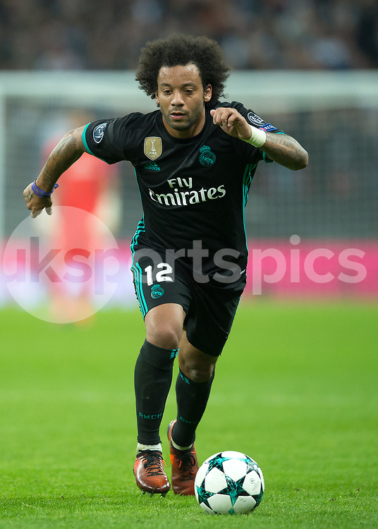 Marcelo of Real Madrid during the UEFA Champions League group H match between Tottenham Hotspur and Real Madrid at Wembley Stadium, London, England on 1 November 2017. Photo by Vince Mignott.