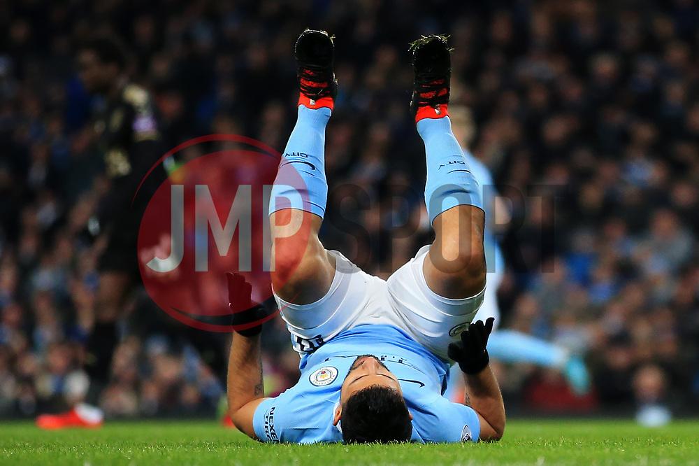 Sergio Aguero of Manchester City reacts after missing a chance - Mandatory by-line: Matt McNulty/JMP - 10/02/2018 - FOOTBALL - Etihad Stadium - Manchester, England - Manchester City v Leicester City - Premier League