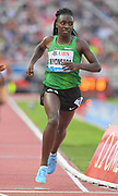 Francine Niyonsaba (BDI) wins the women's 800m in 1:57.80 during the 2018 Athletissima in an IAAF Diamond League meeting at Stade Olympique de la Pontaise in Lausanne, Switzerland on Thursday, July 5, 2018. (Jiro Mochizuki/Image of Sport)