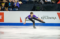 KELOWNA, BC - OCTOBER 25: Australian figure skater, Brendan Kerry, competes in the men's short program at Skate Canada International held at Prospera Place on October 25, 2019 in Kelowna, Canada. (Photo by Marissa Baecker/Shoot the Breeze)