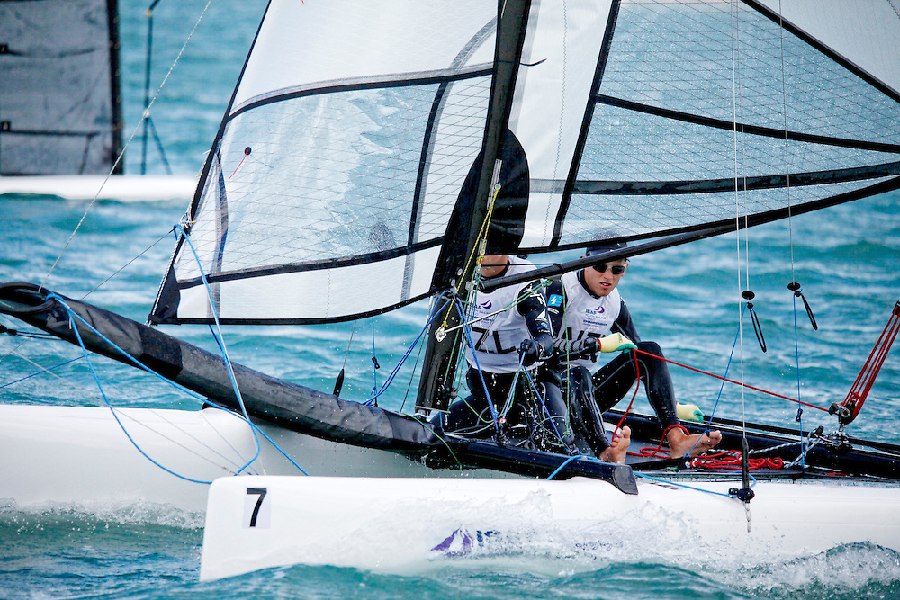New ZealandSirena SL16OpenCrewNZLWM4WilliamMckenzie<br />New ZealandSirena SL16OpenHelmNZLTL4TamrynLindsay<br />Day3, 2015 Youth Sailing World Championships,<br />Langkawi, Malaysia