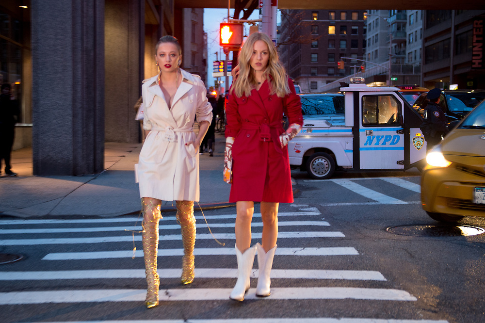 Caroline Vreeland and Shea Marie at Marc Jacobs FW2018