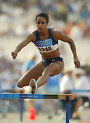 Brenda Taylor of the United States finished seventh in the women's 400-meter hurdles in 54.97 in the 2004 Olympics in Athens, Greece on Wednesday, August 25, 2004.