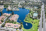 Lake Forest Sun & Sail Club Aerial Stock Photo