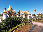 Arabian Kingdom themed area at Leofoo Village amusement park. This is the first place most visitors usually enter when arriving at the park.<br /> <br /> Editors Note: A drone was used for this picture.
