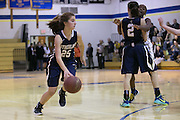 Lena Kaufman of Pittsford Sutherland dribbles during a game at Brighton High School on Thursday, January 21, 2016.