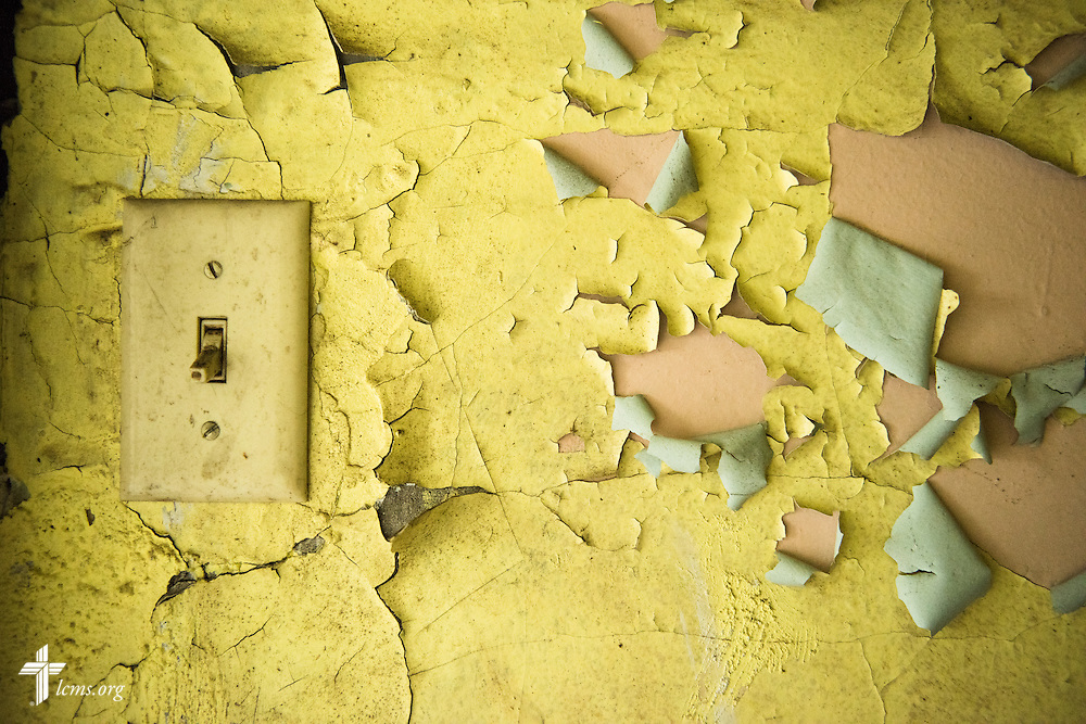 Paint peels in a vacant house on Thursday, July 9, 2015, in Toledo, Ohio. LCMS Communications/Erik M. Lunsford