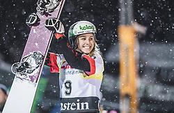 08.01.2019, Bucheben Piste, Bad Gastein, AUT, FIS Weltcup Snowboard, Parallelslalom, Damen, Siegerehrung, im Bild 3. Platz Schoeffmann Sabine (AUT) // 3rd placed Schoeffmann Sabine of Austria during the winner Ceremony for the women's parallel Slalom of the FIS Snowboard Worldcup at the Bucheben Piste in Bad Gastein, Austria on 2019/01/08. EXPA Pictures © 2019, PhotoCredit: EXPA/ JFK