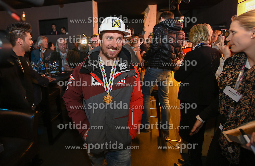 17.02.2017, St. Moritz, SUI, FIS Weltmeisterschaften Ski Alpin, St. Moritz 2017, TirolBerg Ötztal Abend, im Bild Marcel Hirscher (AUT Herren Riesenslalom Weltmeister und Goldmedaille) // men's Giant Slalom world Champion and Gold medalist Marcel Hirscher of Austria during Ötztal Night at TirolBerg for the FIS Ski World Championships 2017. St. Moritz, Switzerland on 2017/02/17. EXPA Pictures © 2017, PhotoCredit: EXPA/ Erich Spiess