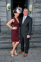 The Best Dressed Competition at Hotel Meyrick on Ladies Day of the Galway Races, sponsored by Brown Thomas Galway, hosted by RTE's  Republic of Telly Star Jennifer Maguire and Cian O'Brion General Manager Hotel Meyrick, eyre Sq. Galway. Photo:Andrew Downes. Photo issued with Compliments, no reproduction fee on first publication.