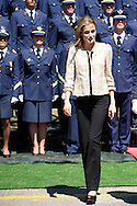 Queen Letizia of Spain visits the Air Force Basic Academy to attend the graduation ceremony on July 9, 2014 in Leon, Spain