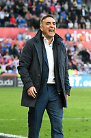 Football - 2017 / 2018 Premier League - Swansea City vs. Stoke City<br /> <br /> Swansea City manager Carlos Carvalhalshouts \ot toast Swansea head to defeat & relegation, at The Liberty Stadium.<br /> <br /> COLORSPORT/WINSTON BYNORTH