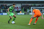 Forest Green Rovers Kaiyne Woolery(14) on the ball during the Vanarama National League match between Forest Green Rovers and Braintree Town at the New Lawn, Forest Green, United Kingdom on 21 January 2017. Photo by Shane Healey.