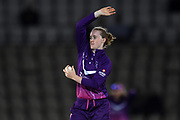 Kirstie Gordon of Loughborough Lightning during the Women's Cricket Super League match between Southern Vipers and Loughborough Lightning at the Ageas Bowl, Southampton, United Kingdom on 28 August 2019.