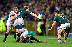 RG Snyman of South Africa looks to off load to Jesse Kriel of South Africa as he is tackled by Chris Robshaw and Joe Launchbury of England- Mandatory by-line: Steve Haag/JMP - 23/06/2018 - RUGBY - DHL Newlands Stadium - Cape Town, South Africa - South Africa v England 3rd Test Match, South Africa Tour