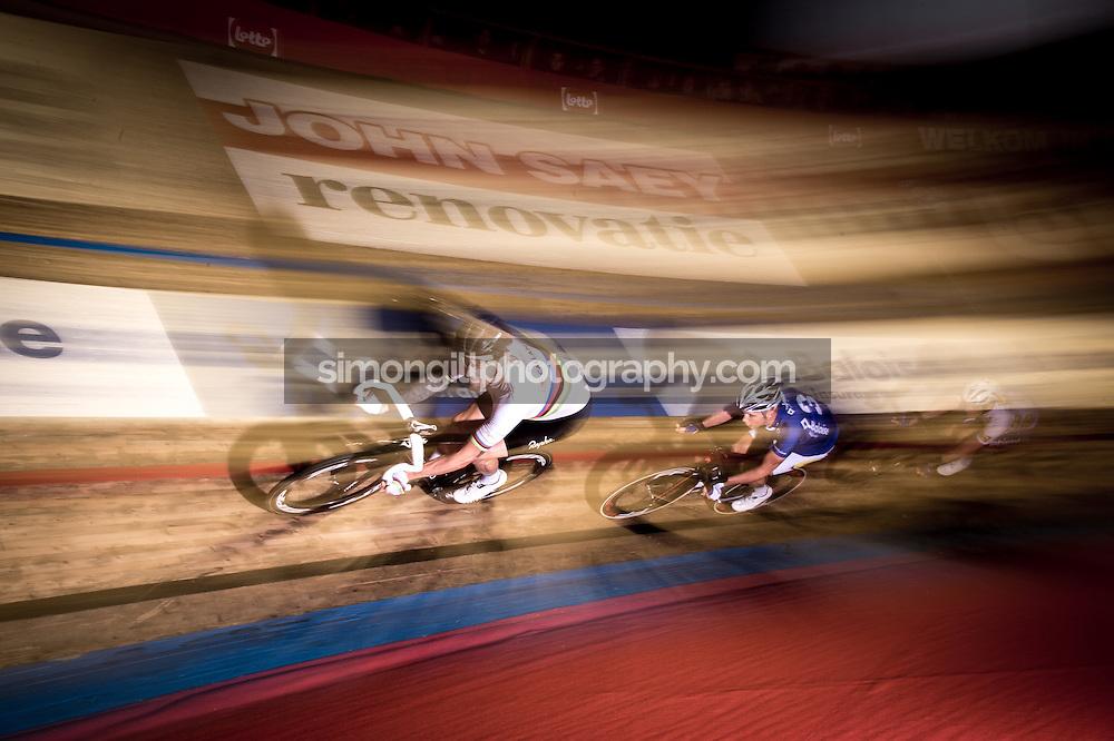 Ghent, Belgium - November, 2016: The 76th 6 Days of Ghent race at t'Kuipke Track Velodrome; Bradley Wiggins.
