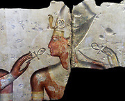 King Ramses II, among the gods, about 1275 BC (19th dynasty) comes from the small temple built by King Ramses II at Abydos. Painted limestone