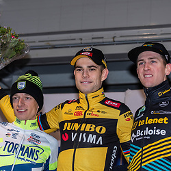 2020-02-07 Cycling: dvv verzekeringen trofee: Lille: Wout van Aert books his first win at his home race, Quinten Hermans finished second and Toon Aerts third