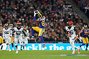 LA Rams Wide Receiver Josh Reynolds (83) catches a pass during the International Series match between Los Angeles Rams and Cincinnati Bengals at Wembley Stadium, London, England on 27 October 2019.