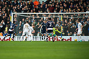 Millwall Midfielder Jed Wallace scores a goal but is ruled offside by the linesman during the EFL Sky Bet Championship match between Leeds United and Millwall at Elland Road, Leeds, England on 20 January 2018. Photo by Craig Zadoroznyj.