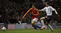 Photo: Paul Thomas.<br /> England v Spain. International Friendly. 07/02/2007.<br /> <br /> Fernando Morientes (L) of Soain tries to get around Jonathan Woodgate.