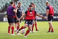 Rugby Union - 2017 British & Irish Lions Tour of New Zealand - Training Session <br /> <br /> Ben Te'o kicks the ball during the British & Irish Lions training session, ahead of the match against The Blues, at the QBE Stadium, Auckland. <br /> <br /> COLORSPORT/LYNNE CAMERON
